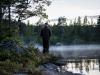 Tor-Erik prøver fiskestanga ved Svarttjern